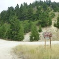 Turn right to Shafer Butte Picnic Area.- Shafer Butte and Mores Mountain Trailhead