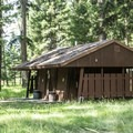 Restrooms at Seeley Lake.- Seeley Lake Campground