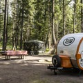 Holland Lake is great for small trailers.- Holland Lake Campground