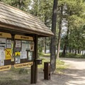 Holland Lake Campground.- Holland Lake Campground