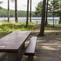 One of the nicer campsites at Holland Lake.- Holland Lake Campground