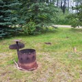 Fire rings with grates for public use.- Southview Provincial Recreation Area
