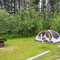 There are no designated sites, but there is plenty of space to put up tents.- Southview Provincial Recreation Area