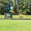 The playground near Wrangler Campground.- Chickasaw State Park