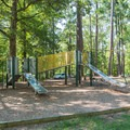 The playground in Tent Campground.- Chickasaw State Park