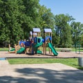 The playground near Swimming Bath House.- Chickasaw State Park