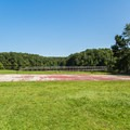 The basketball court near Swimming Bath House.- Chickasaw State Park