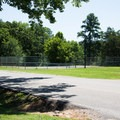 The tennis court in Pickwick Landing Campground.- Pickwick Landing Campground