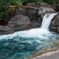 Be sure to stop at Deadwood Falls 1 mile into Gunsight Pass Trail.- Florence Falls