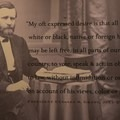 The words of Ulysses S. Grant are immortalized in signage.- Ulysses S. Grant National Historic Site