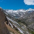 The view toward Lake Sabrina from Cardinal Pinnacle.- Cardinal Pinnacle: Regular Route