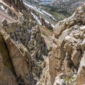The scree descent down Cardinal Pinnacle.- Cardinal Pinnacle: Regular Route