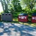 The recycling station near the picnic area.- Westcott Beach State Park