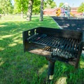 A grill in the picnic area.- Westcott Beach State Park