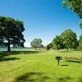 The expansive picnic area.- Westcott Beach State Park