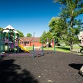 A playground.- Westcott Beach State Park