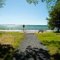 Views of the lake from the campground.- Westcott Beach Campground