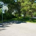 The basketball court.- Westcott Beach Campground