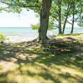 A typical lakeside site.- Westcott Beach Campground