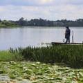 Fishing pier.- Bill Frederick Park + Campground at Turkey Lake