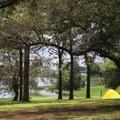 This site overlooks the scenic lake.- Bill Frederick Park + Campground at Turkey Lake