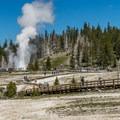 Upper Geyser Basin in Yellowstone National Park.- Upper Geyser Basin Trail