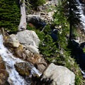 Tumbling waters on the way up to Traverse Lake.- Echo Lake and Traverse Lake