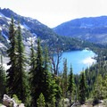 View of Echo Lake from Traverse Lake.- Echo Lake and Traverse Lake