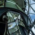 The lighthouse's first-order Fresnel lens.- Jupiter Inlet Lighthouse and Museum