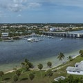 Panoramic views of Palm Beach County from the lighthouse.- Jupiter Inlet Lighthouse and Museum