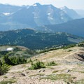 The trail is very steep.- Swiftcurrent Lookout