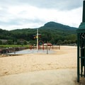 The beach is less crowded on weekdays and during the shoulder seasons.- Lake Lure Beach