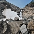 Water flowing down from Lewis Glacier.- South Sister: Eastern Approach