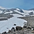 A unnamed trail on South Sister.- South Sister: Eastern Approach