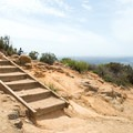 There are stairs leading up to the summit of Cowles Mountain.- Cowles Mountain via Big Rock Trail