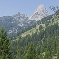 Nez Perce Peak (11,901 feet).- Garnet Canyon Trail to Cleft Falls