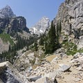 Rugged beauty.- Garnet Canyon Trail to Cleft Falls
