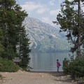 Starting off from the Jenny Lake boat launch on the south end.- Cascade Canyon via South Jenny Lake