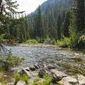 Cascade Creek.- Cascade Canyon via South Jenny Lake