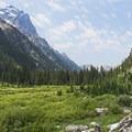 The large, wide canyon is so beautiful.- Cascade Canyon via South Jenny Lake