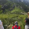 Bear sighting in the distance.- Cascade Canyon via South Jenny Lake