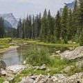 Cascade Creek really adds an extra dimension to the area.- Cascade Canyon via South Jenny Lake