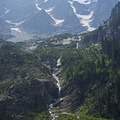 There are a bunch of waterfalls and cascades along the way.- Cascade Canyon via South Jenny Lake