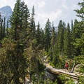 One of the footbridges near the end of the canyon.- Cascade Canyon via South Jenny Lake