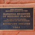 Bookcliff Shelter is a National Historic Place.- Canyon Rim Trail