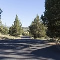 The road into the campground. - Haystack Campground (East Shore)