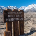 A beautiful view of Lone Pine Peak and Mount Langley.- Tuttle Creek Campground