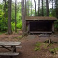 Lean-to campsite 5.- Heart Lake Campground