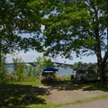 Typical campsite.- Crown Point Campground