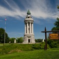 The Champlain Memorial Lighthouse.- Crown Point Campground